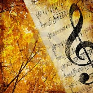 楽譜とト音記号
